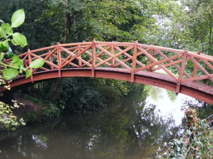 Small Arched Bridge for Home page Timber Structures